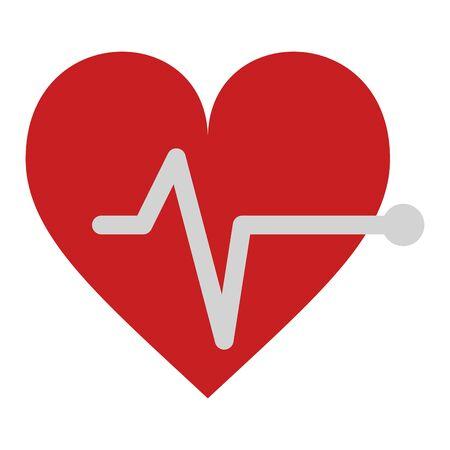 Cardiology heartbeat symbol isolated vector illustration graphic design Foto de archivo - 124734113
