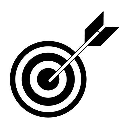 Target dartboard symbol isolated vector illustration graphic design