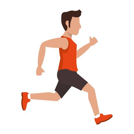 fitness man running sideview avatar