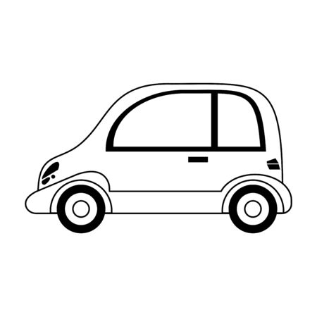 Car coupe vehicle isolated vector illustration graphic design Çizim