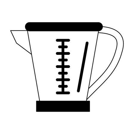 Blender glass jar cartoon vector illustration graphic design