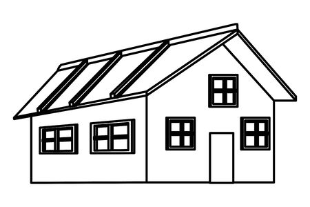house icon cartoon isolated black and white vector illustration graphic design