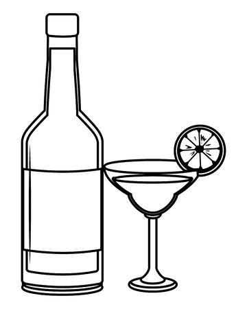 alcoholic drinks beverages cartoon vector illustration graphic design Stok Fotoğraf - 124769827