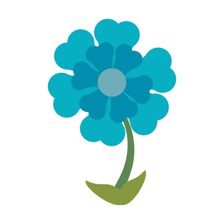 Beautiful flower cartoon isolated