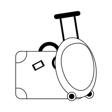 Travel luggage and suitcase symbol vector illustration graphic design Çizim