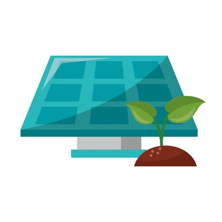 Green and renewable energy symbols vector illustration graphic design Illustration