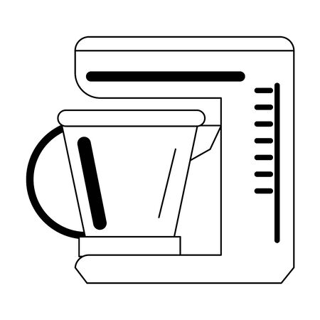 Kitchen mixer electronic device vector illustration graphic design