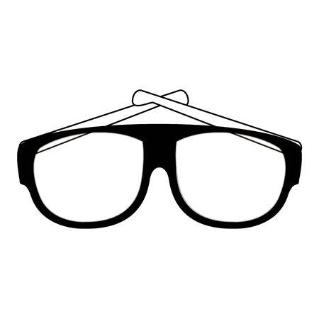 Fashion sunglasses accesory isolated vector illustration graphic design 向量圖像