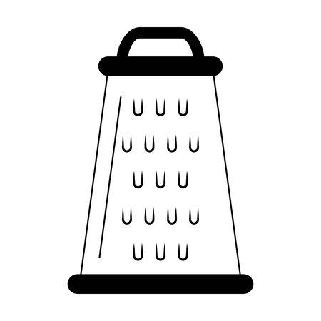 Kitchen skimmer utensil isolated vector illustration graphic design
