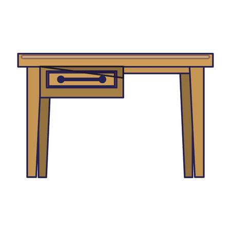 furniture concept desk cartoon vector illustration graphic design Çizim