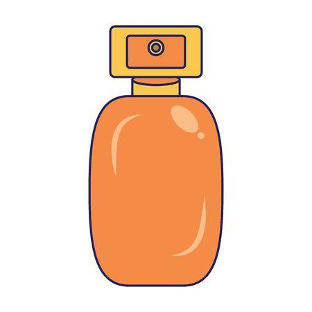 Perfume glass bottle cosmetic product vector illustration graphic design Çizim