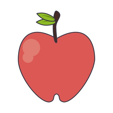 Apple fruit food cartoon isolated vector illustration graphic design