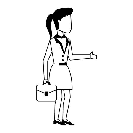 Executive businesswoman with briefcase avatar vector illustration graphic design Illustration