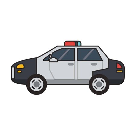 Police car vehicle isolated vector illustration graphic design