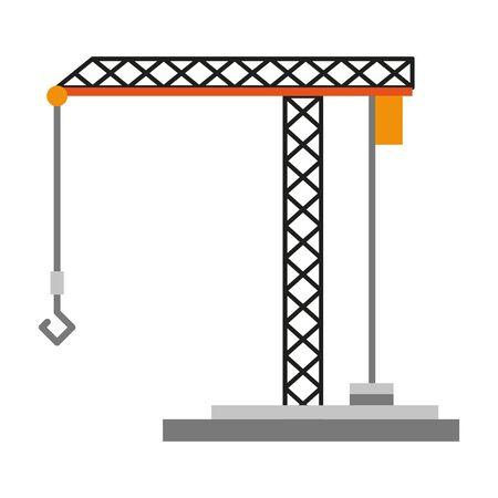 Under Construction crane symbol isolated vector illustration graphic design Illustration
