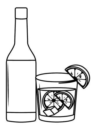 alcoholic drinks beverages cartoon vector illustration graphic design Stok Fotoğraf - 124770051