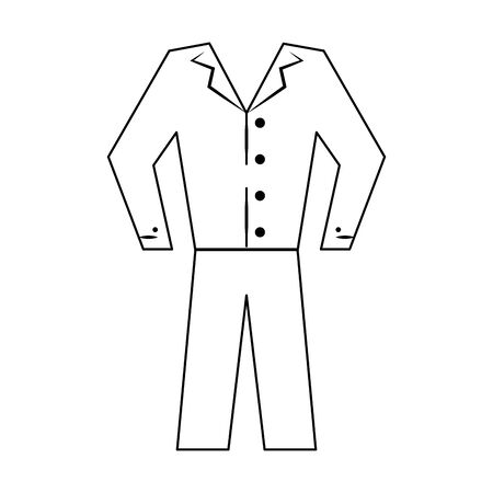 Male pijama clothes isolated cartoon vector illustration graphic design Stock Illustratie