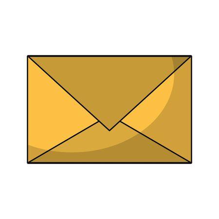 Email envelope letter symbol isolated vector illustration graphic design Illustration