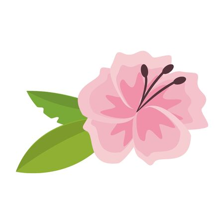 flower blossom icon cartoon isolated vector illustration graphic design
