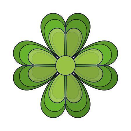 clover with four leaves icon cartoon isolated vector illustration graphic design