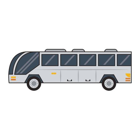Public bus vehicle sideview vector illustration graphic design Imagens - 124821360