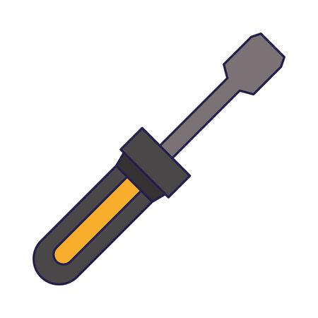 screwdriver working repair tool with grip for construction vector illustration graphic desing