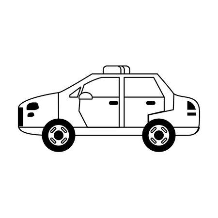 Police car vehicle isolated vector illustration graphic design Standard-Bild - 124867826