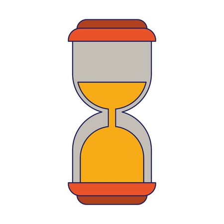 Hourglass antique timer symbol vector illustration graphic design Stock Vector - 124867858
