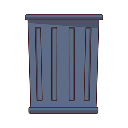 trash can icon cartoon isolated vector illustration graphic design Ilustração