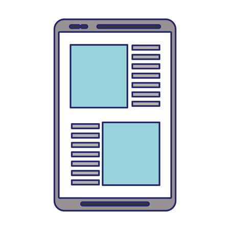 Tablet online news website isolated vector illustration graphic design