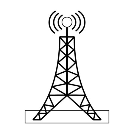 Telecommunication antenna tower symbol Designe Illustration