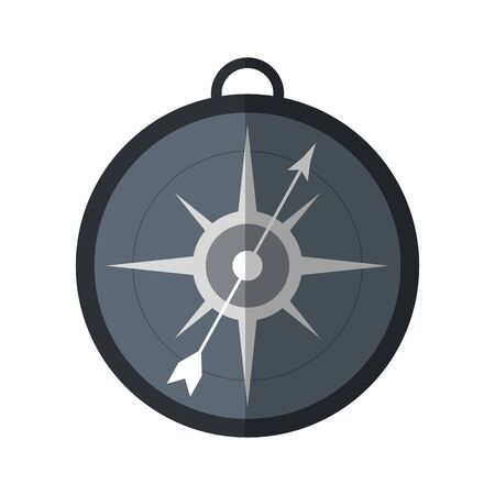 Compass navigation symbol isolated vector illustration graphic design