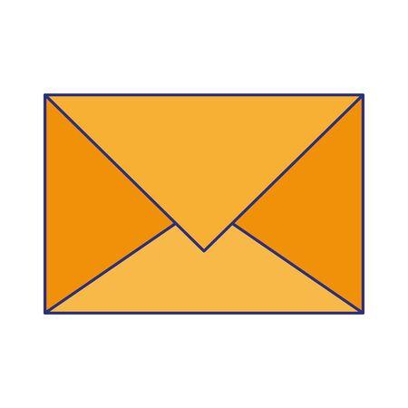 Email envelope symbol isolated cartoon vector illustration graphic design Illustration