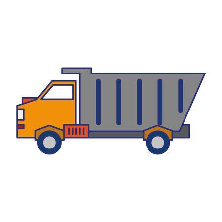 Cargo truck vehicle symbol isolated vector illustration graphic design Imagens - 124878509