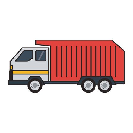 Garbage truck vehicle isolated vector illustration graphic design