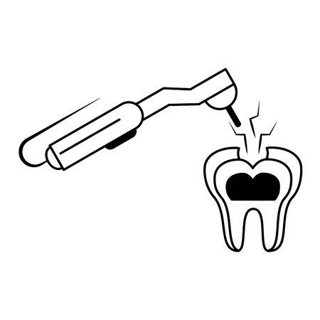 Dental care health and hygiene symbols and elements vector illustration graphic design