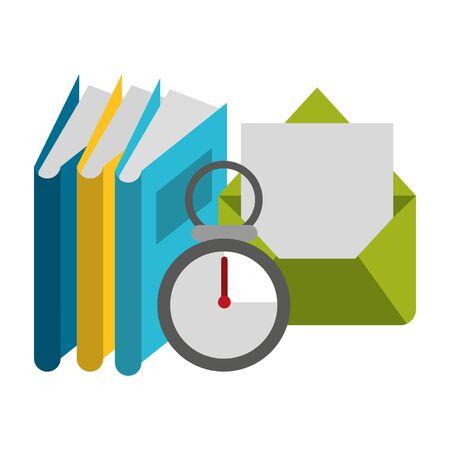 knowledge education concept elements cartoon vector illustration graphic design