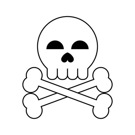 danger sign icon cartoon vector illustration graphic design black and white