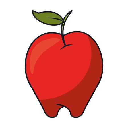Apple Healthy Food Fruit isolated vector illustration graphic design Stok Fotoğraf - 124887801