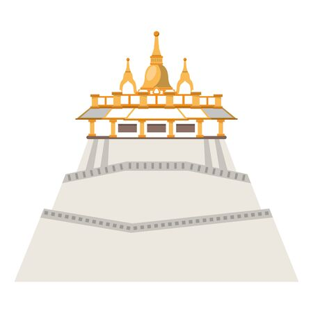 chinese palace icon cartoon isolated vector illustration graphic design