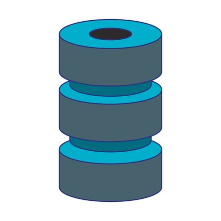 Disks database servers technology isolated symbol vector illustration graphic design Illustration