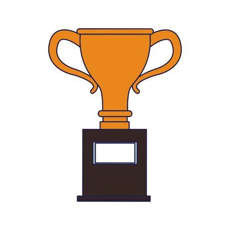 Trophy cup championship symbol vector illustration graphic design Foto de archivo - 124835078