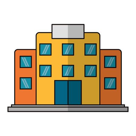 building icon cartoon isolated vector illustration graphic design