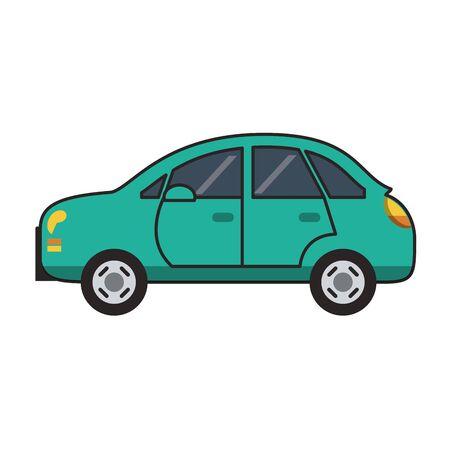 Car vehicle sedan isolated vector illustration graphic design