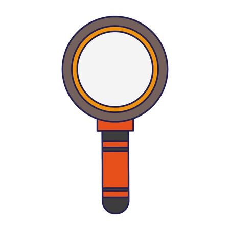 magnifying glass cartoon vector illustration graphic design vector illustration graphic design