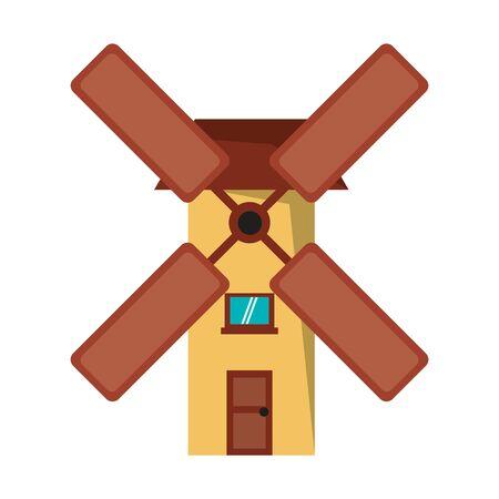 Antique wind mill symbol vector illustration graphic design Standard-Bild - 124900949