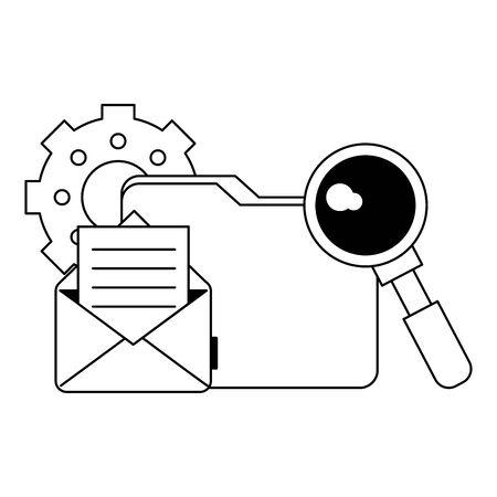 Email business digital communication cartoons vector illustration graphic design