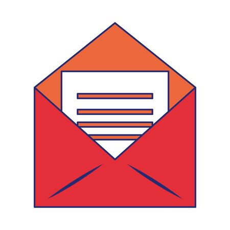 Envelope with letter symbol vector illustration graphic design