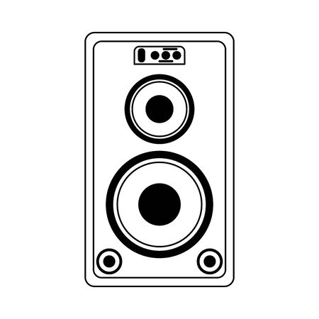 Party music speaker with bass vector illustration graphic design
