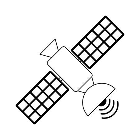 Communication satellite technology isolated Design Ilustrace